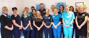Evesham Place Dental Stratford-upon-Avon Team in reception
