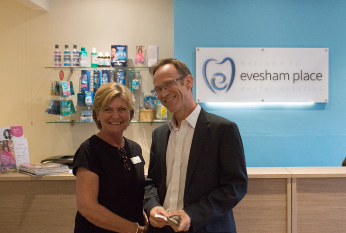 Evesham Place Dental Stratford-upon-Avon - Alison and patient in reception