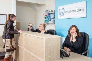 Evesham Place Dental Stratford Upon Avon reception team